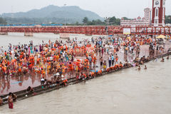 Ghats at Haridwar Royalty Free Stock Photos