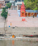 Ghats indù - Varanasi in India Immagine Stock