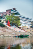 Ghats indù - Varanasi in India Fotografie Stock