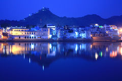 ghats ind jeziorny pushkar Rajasthan obraz royalty free