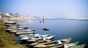 ghats Varanasi obraz royalty free