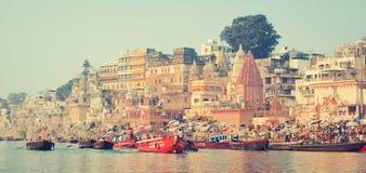 ghats varanasi Royaltyfria Foton