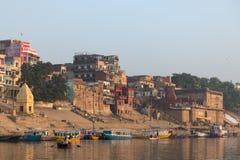 Ghats in Varanasi Stock Afbeelding