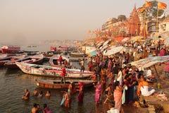 ghats varanasi стоковые изображения