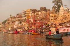 ghats Varanasi Στοκ εικόνα με δικαίωμα ελεύθερης χρήσης