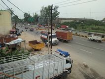Tata truck. On ghaziabad road India Royalty Free Stock Images