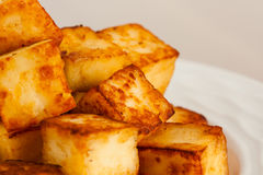 Ghee Fried Indian Paneer Cubes Stockbilder