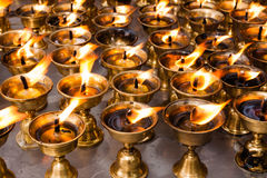 Ghee lamps Royalty Free Stock Images