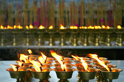 Ghee light,pray for happiness. Leshan sichuan ,china Stock Images