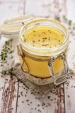 Ghee oil stock photo