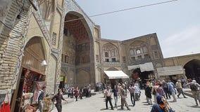 Gheisari bazar entrance in Isfahan stock footage