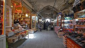 Gheisari bazar in Isfahan stock video