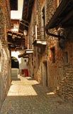 Ghemme, Novara, Italien. Hof durch Ricetto Stockfotos
