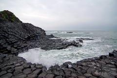 Ghenh Da diameter (Ganh Da diameter), jätte basaltcauseway. Royaltyfria Bilder