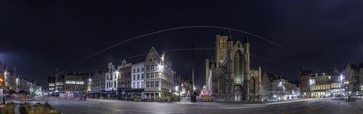 Ghent 'o Korenmarkt ' fotografia de stock