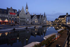 Ghent. At Dusk stock photo
