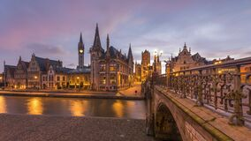 Ghent, Belgium at the Graslei