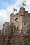 Ghent, Belgium, medieval castle Royalty Free Stock Photos
