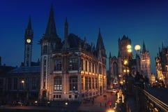 Ghent in Belgium at night Stock Image