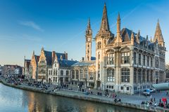 Ghent, Belgium. Ghent Old Town in Belgium stock photo