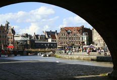 Ghent canal Royalty Free Stock Images
