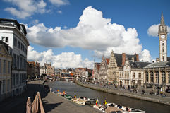Ghent canal Royalty Free Stock Photo