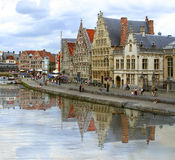 Ghent canal Stock Image