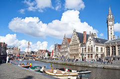 Ghent Canal,Belgium Royalty Free Stock Photo