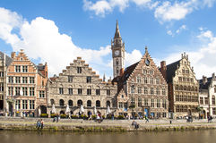 Ghent Canal,Belgium Stock Photo