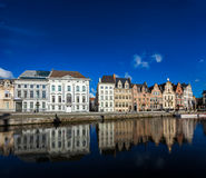 Ghent canal. Ghent, Belgium Royalty Free Stock Image