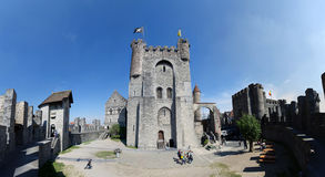 Ghent Castle. Medieval old Ghent Castle inside view royalty free stock photos