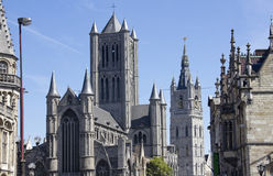 Ghent Churches, Belgium Stock Photo