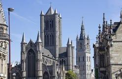Ghent Churches, Belgium Stock Photo