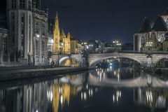 Ghent City. Beautiful Ghent, Gent, Gand in Belgium Royalty Free Stock Image