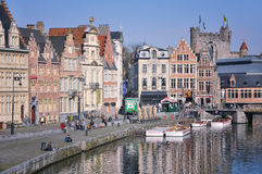 Ghent city center, Belgium Stock Photography