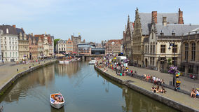 Ghent city centre Stock Photography