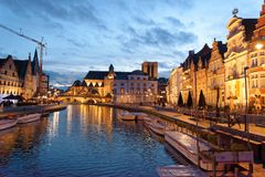 The city of Ghent in Belgium Stock Photo