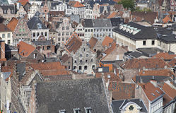 Ghent city's rooftops, Belgium Royalty Free Stock Images