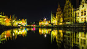 Ghent Colors - Night Stock Photo