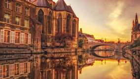 Ghent Colors - Sunset Stock Images