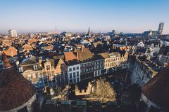 Ghent City Panoramic View stock photo