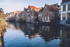 Ghent Merchant Houses Facades Royalty Free Stock Images