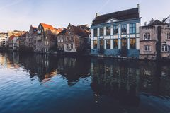 Ghent Merchant Houses Facades Royalty Free Stock Image