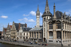 Ghent Graslei On The Waterfront Royalty Free Stock Image