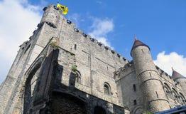 Ghent Gravesteen kasztel Zdjęcia Royalty Free