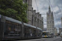 Ghent. Historical centre of ghent, belgium 2017 Stock Photos