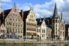 Ghent kanałowy Obraz Royalty Free