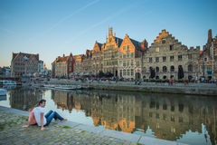 Ghent Medival Town in Belgium Stock Images