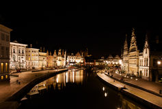 Ghent at night Stock Photo