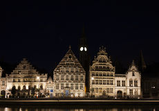 Ghent at night Royalty Free Stock Images